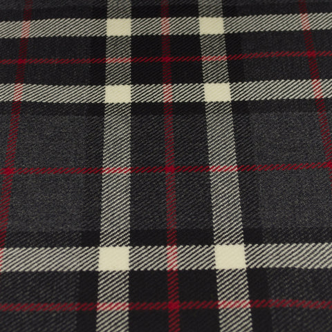 Tartan Fabric - Thomson - Grey
