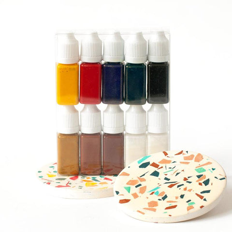 Jesmonite Pigments - Box Set of 9 colours