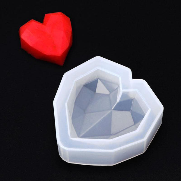 Faceted Heart Silicone Mould
