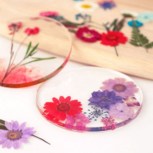 Preserved Flowers Resin Coaster