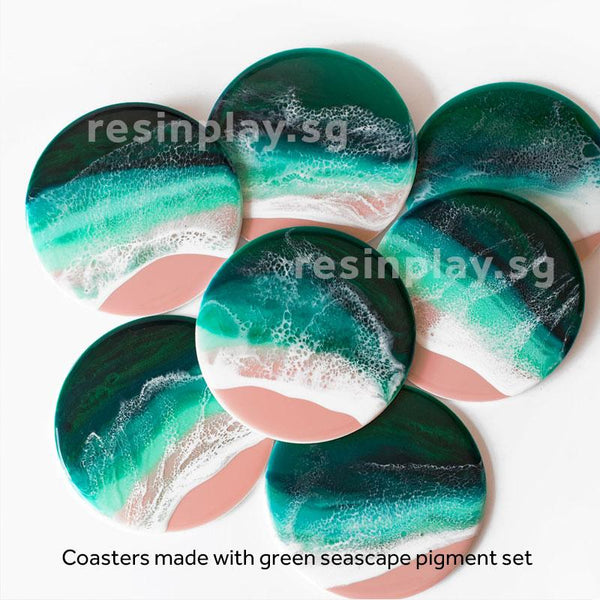 Green Seascape Pigment Set