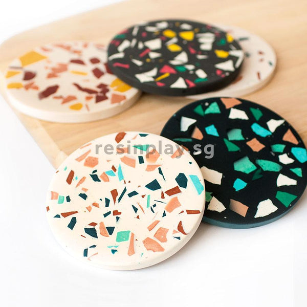 Handmade Jesmonite Chips for Terrazzo Making