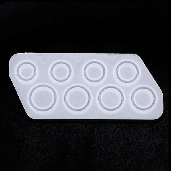 Multi Ring Silicone Mould with 8 Ring Sizes