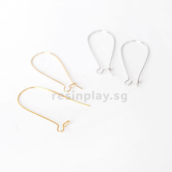 Lead-free & Nickel-free Kidney Wire Earring Hooks (50 Pcs)