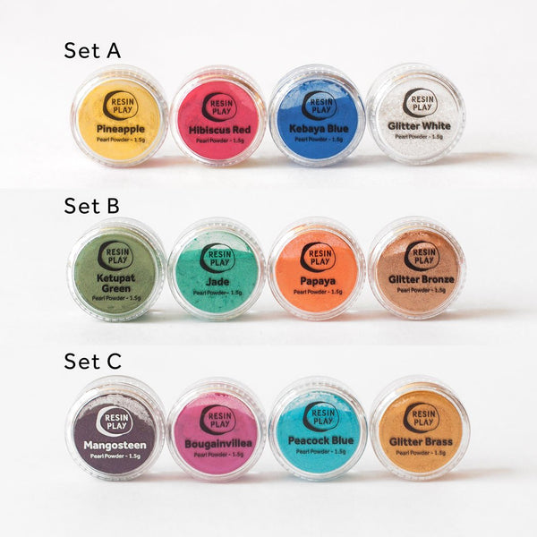Mica Pearl Powder Pigments Kits - Set of 4 colours
