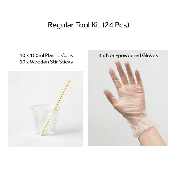 Regular Tool Kit of Mixing Cups, Stir Sticks & Gloves - Set of 24 or 110