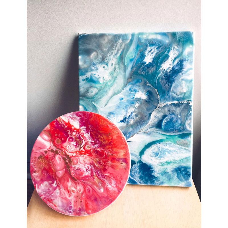 Resin Art on Canvas (Basic)