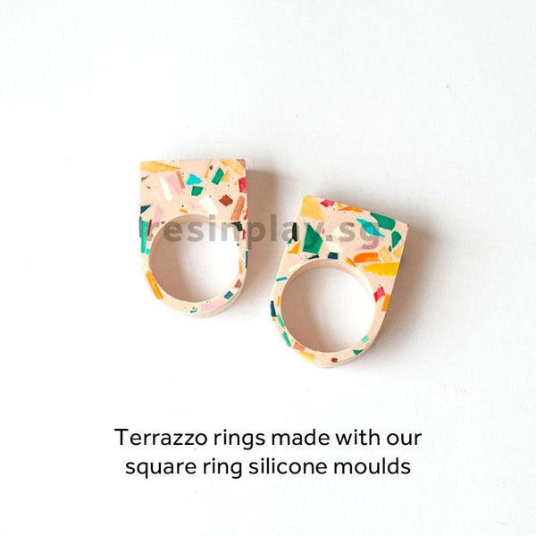 Terrazzo Jewellery Starter Kit - Mixing Cups, Stirrers & Sandpaper Included
