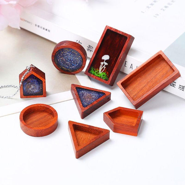 Wooden Bezels - Set of 8