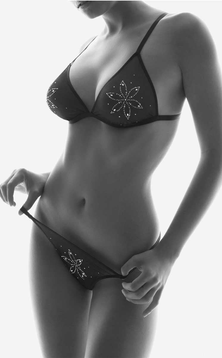 Strass Triangle Bra & Bikini set