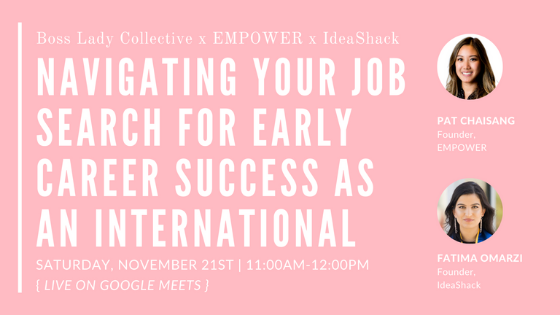 Navigate Your Job Search for Early Career Success as Internationals | Workshop Recap