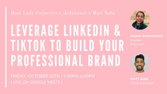 How to Leverage LinkedIn & TikTok to Build Your Professional Brand | Workshop Recap