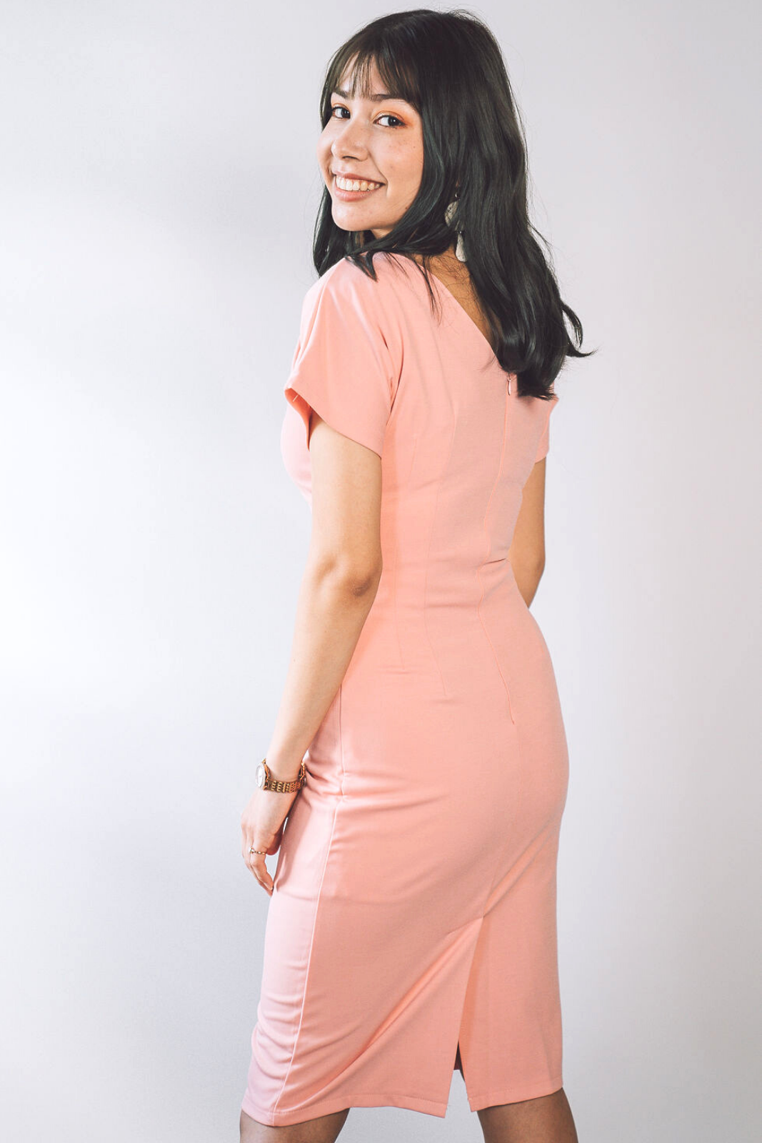 Rachel Fitted Pastel Dress