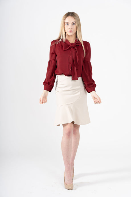 Viśavāsa Ruffle Pencil Skirt