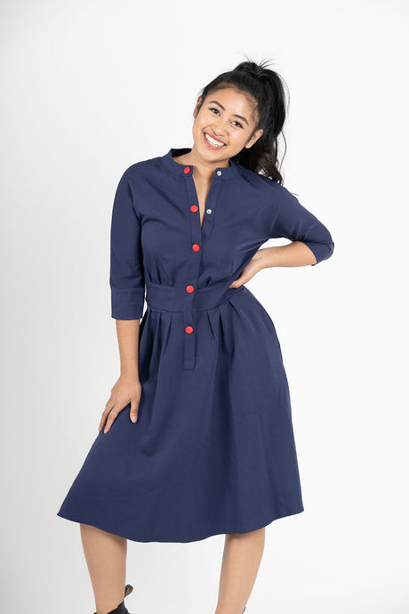 Jishin Ga Aru A-Line Button Dress