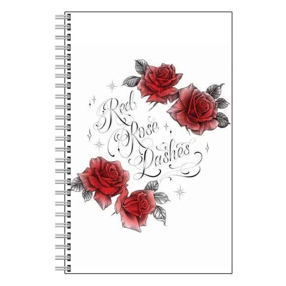 Red Rose Lashes Logo Notebook