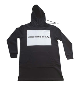The 'Iwa Lewa' / 'Character is Beauty' Long Length Hoodie Streeter