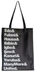 'Nigeria People' Leather Tote Bag