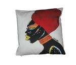 """African Queen"" Art Cushion by Tarra Louis-Charles"