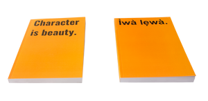 Yoruba Proverb Journal / Notebook (A5) (Orange) - Ìwà lewà / Character is beauty.