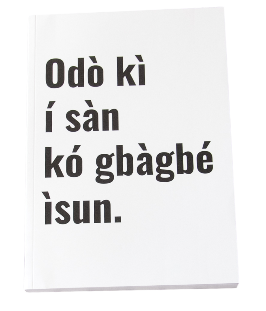 Yoruba Proverb Journal / Notebook (A5) (White) - Yoruba Proverb Journal / Notebook (A5) (Orange) - A river does not flow and forgets..
