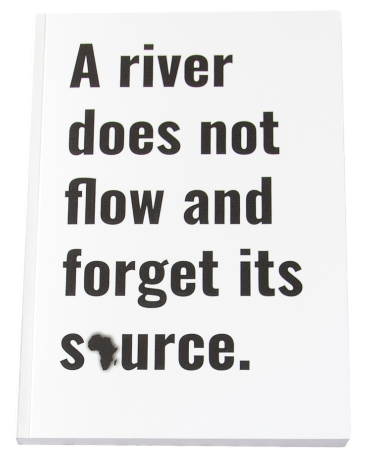 Yoruba Proverb Journal / Notebook (A5) (Orange) - A river does not flow and forgets / Odò kì í sàn kó gbàgbé ìsun