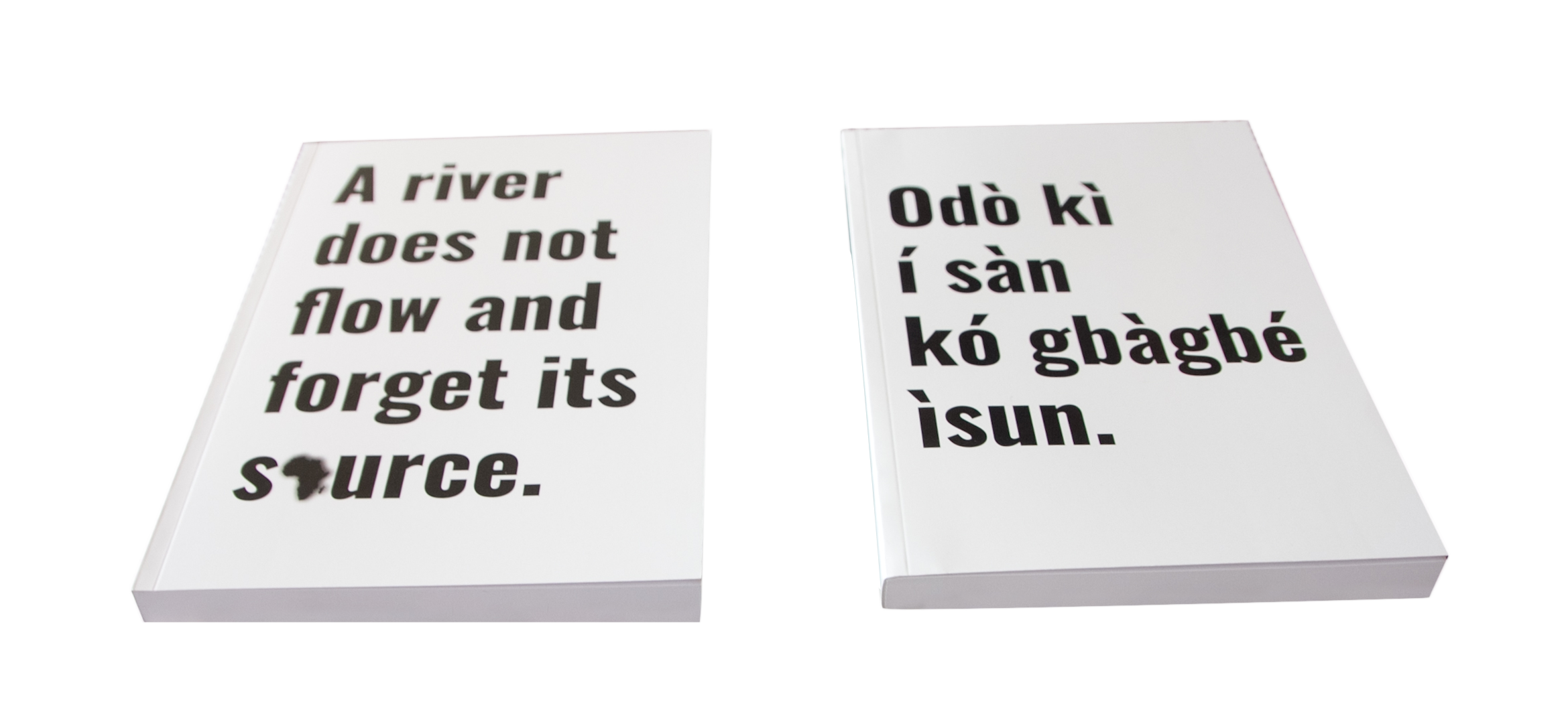 Yoruba Proverb Journal / Notebook (A5) (White) -  A river does not flow and forgets..