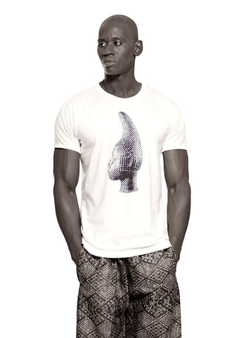 Iyoba Idia Profile T-shirt  (White/Black) Mens