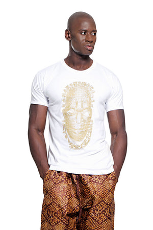 African Shirt (t-shirt) featuring Iyoba Idia mask. African Fashion style