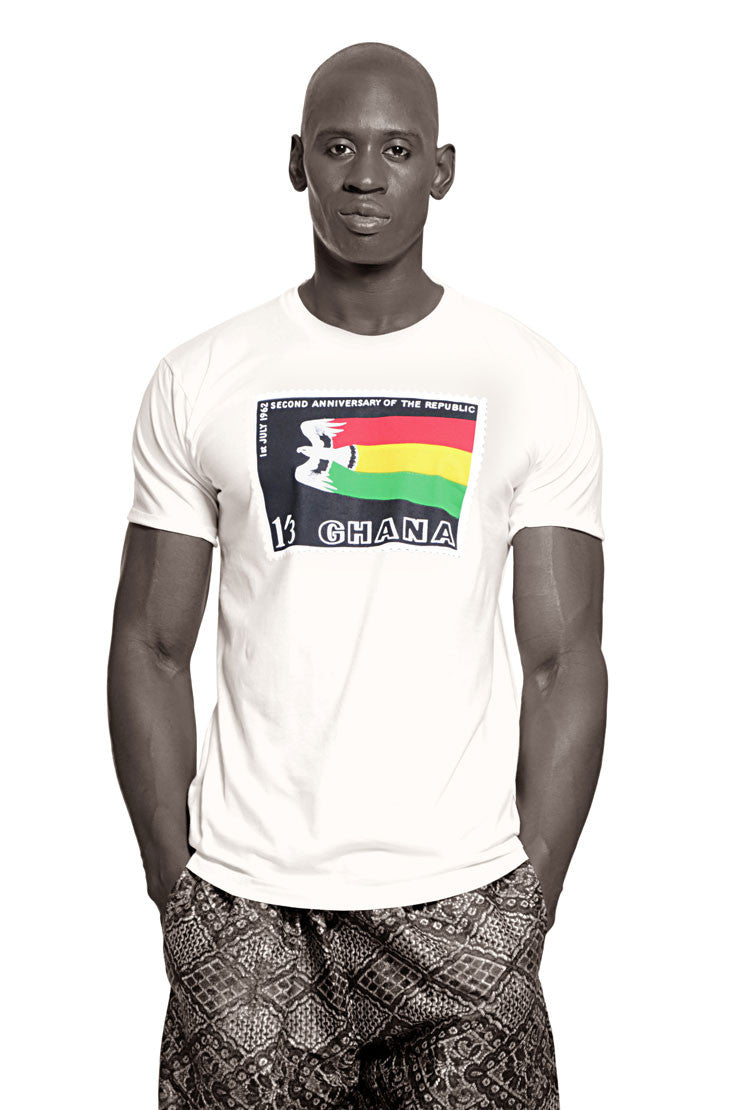 Ghana Independence T-shirt (White) Mens