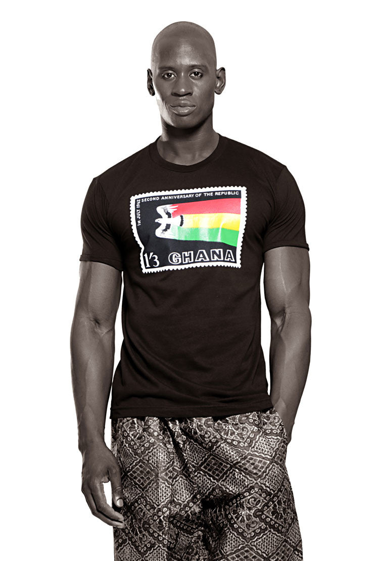 Ghana Independence T-shirt (Black) Mens