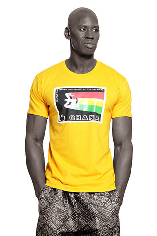 Ghana Independence T-shirt (Yellow) Mens