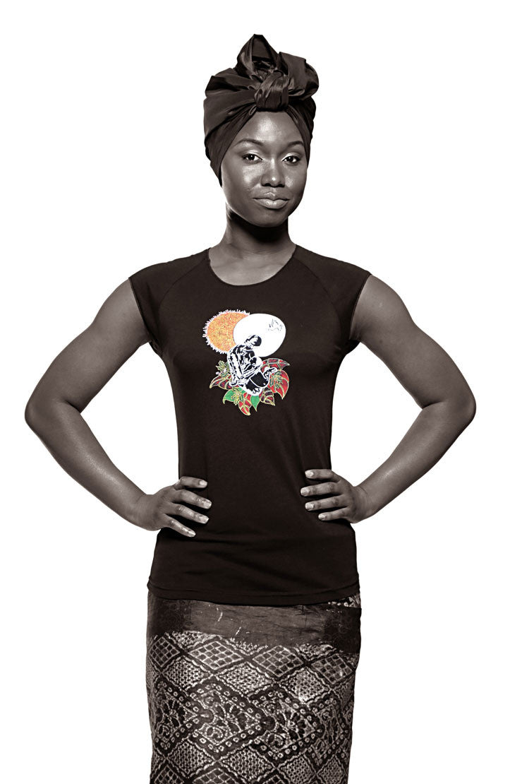 Black Madonna (Life Force) T-shirt (Black) Womens