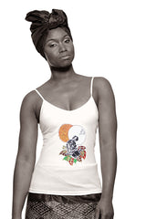 Black Madonna (Life Force)  Camisole (White) Womens
