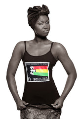 Ghana Independence Vest (Black) Womens