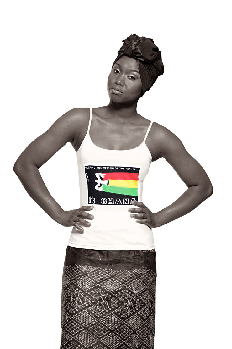 Ghana Independence Vest (White) Womens