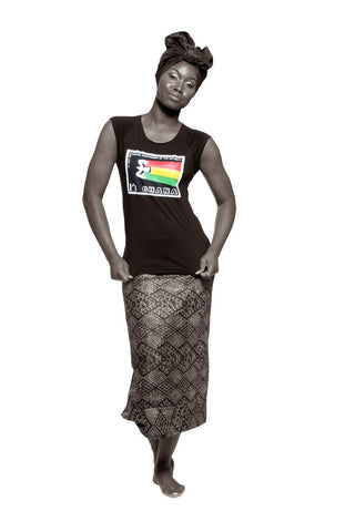 Ghana Independence T-shirt (Black) Womens