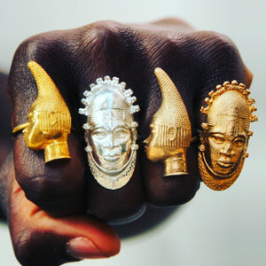 Iyoba Idia Ring - Bronze (Unisex and Adjustable)