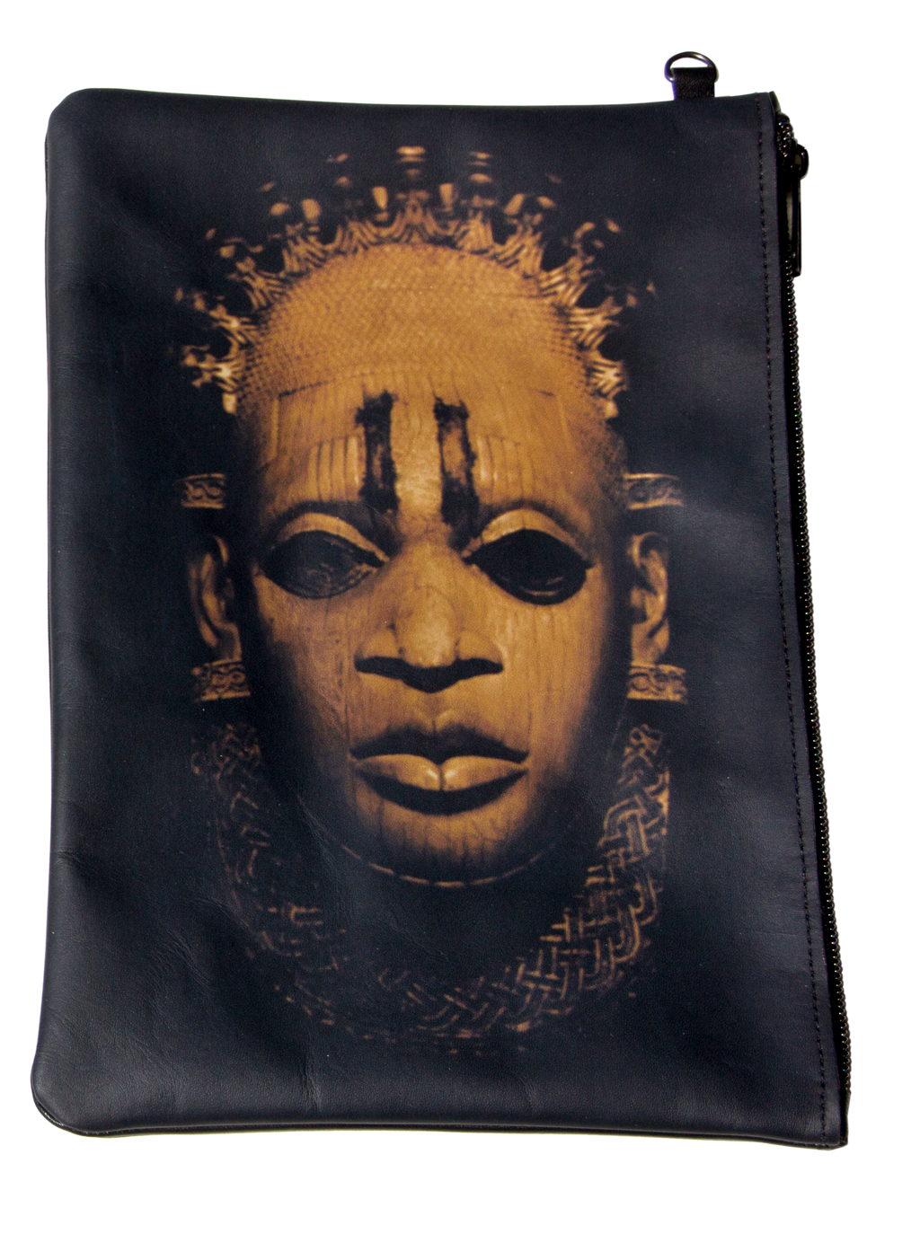 'Iyoba Idia' Printed Hand-Crafted Leather Case