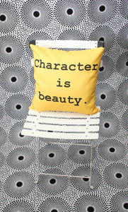 Yoruba Proverb Art Cushion: 'Ìwà lewà / Character is beauty'