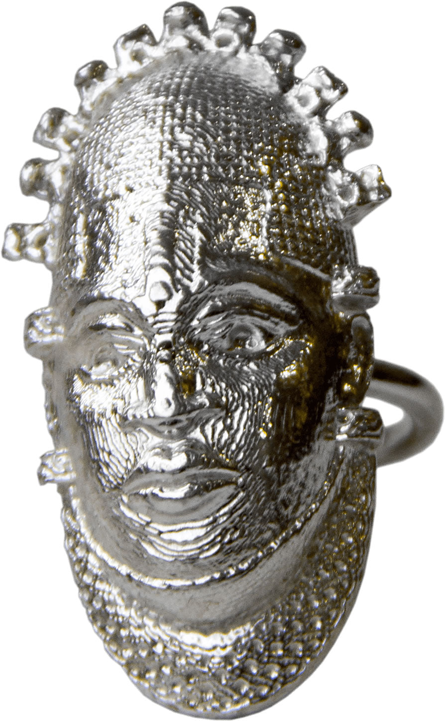 Iyoba Idia Ring - Silver (Unisex and Adjustable)