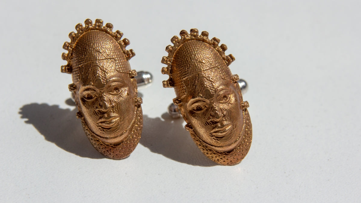 Iyoba Idia Cuff-Links - Bronze
