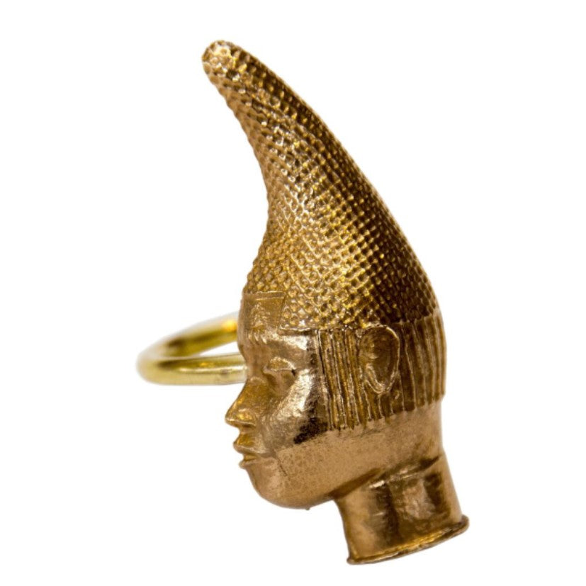Iyoba Idia Profile Ring - Bronze (Unisex and Adjustable)