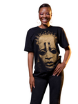 "Iyoba Idia Mask ""Shadow"" T-Shirt Black/Gold"