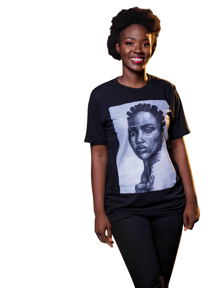 """Knots""  Unisex T-Shirt by artist Kosisochukwu Nnebe (Black & White)"