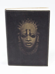 Iyoba Idia (Refillable) Fine Leather Journal (Brown/Size A5)
