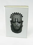 Iyoba Idia Mask Fine Leather Journal (White/A5)