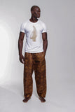 Iyoba Idia Profile T-shirt (White/Muted Gold) Mens