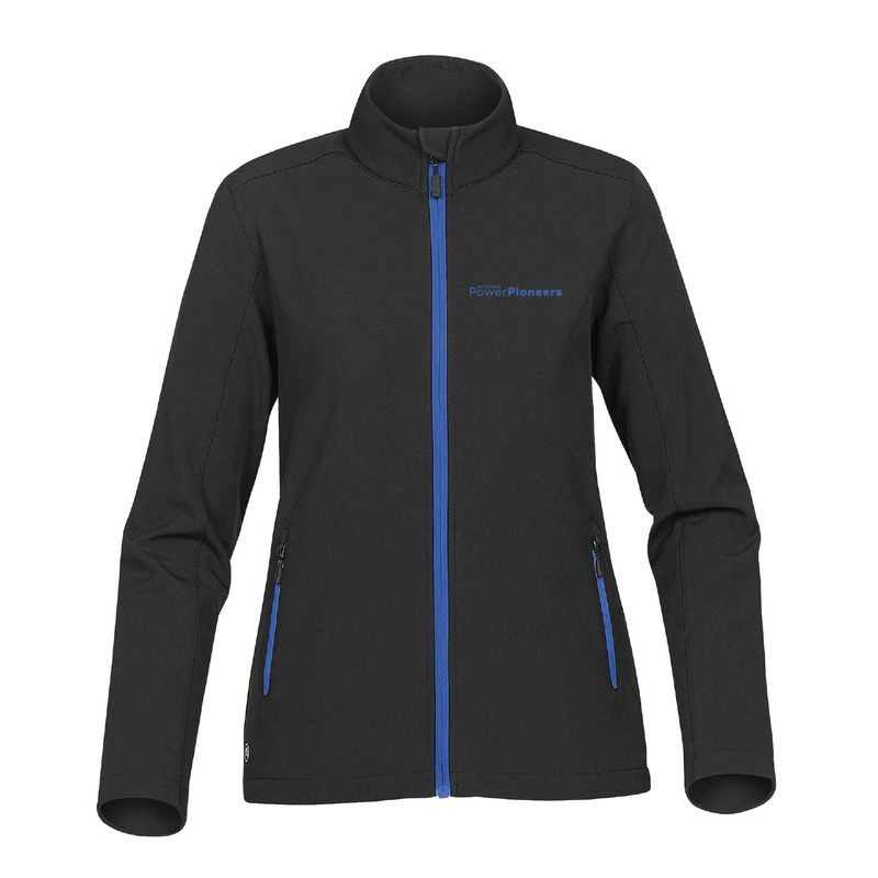 Stormtech™ Women's Orbiter Softshell - Black/Azure Blue