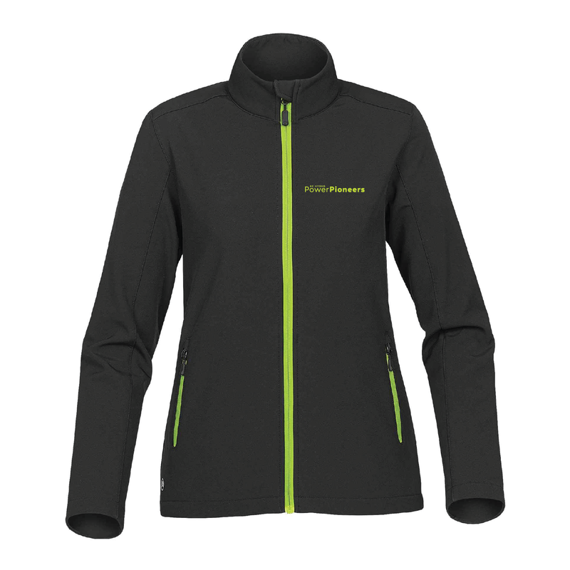 Stormtech™ Women's Orbiter Softshell - Black/Kiwi